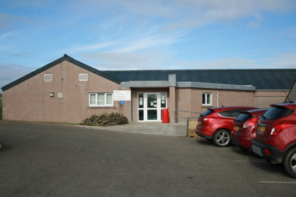 Entrance from the car park to the Healthy Living Centre and Swimming Pool.