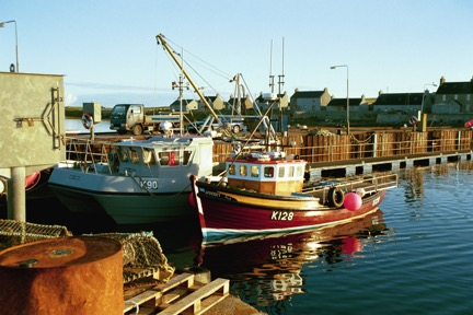 Fishing boats at Gill Pier